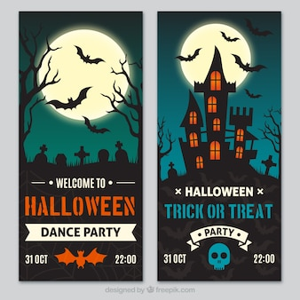 Halloween banners pack