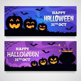 Halloween banners set design