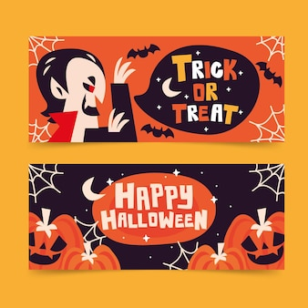 Halloween banners set style
