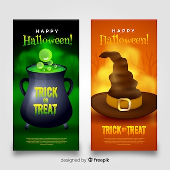 Halloween banners witchcraft collection