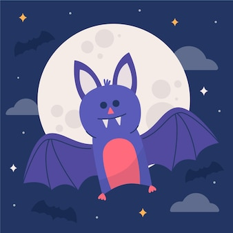 Illustrazione del pipistrello di halloween