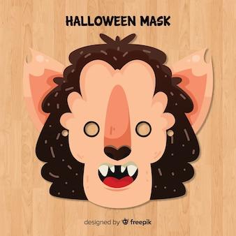 Halloween bat mask in flat design