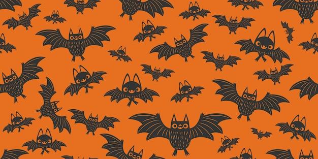Хэллоуин летучих мышей бесшовные модели.