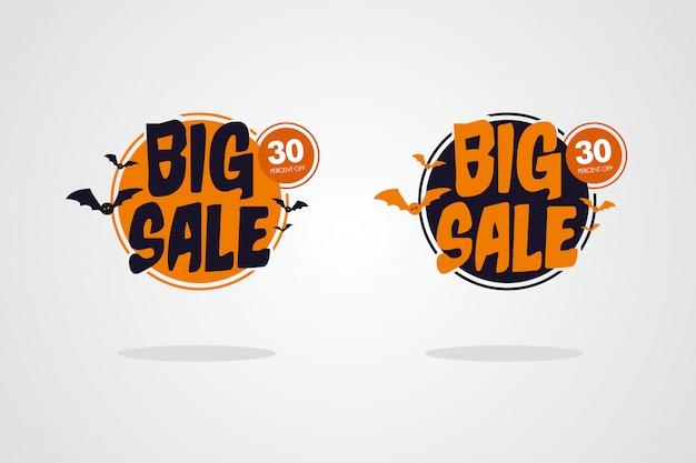 Halloween big sale banner set