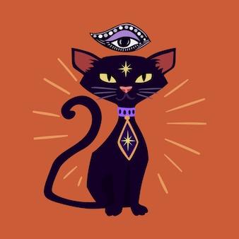 Halloween black cat.