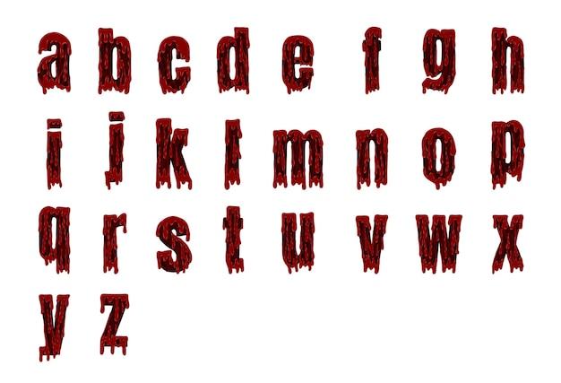할로윈 피 묻은 알파벳 벡터에서 설정
