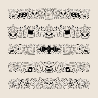 Halloween border collection concept