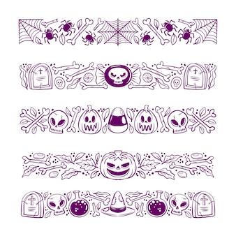 Halloween border collection design