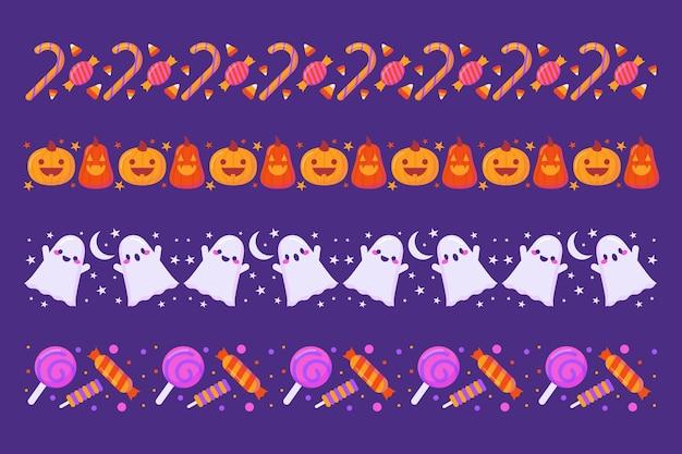 Halloween border collection Free Vector