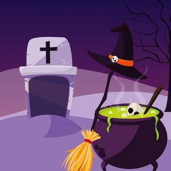 Halloween bowl cartoon