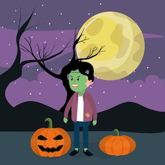Halloween and boy