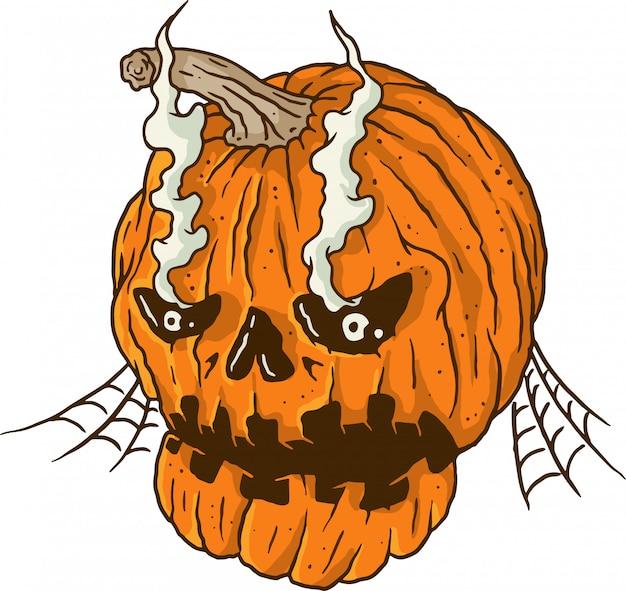 Halloween broken pumpkin
