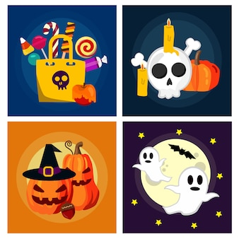 Halloween candies set