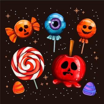Коллекция конфет на хэллоуин