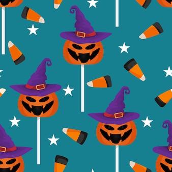 Хэллоуин конфеты бесшовные шаблон.