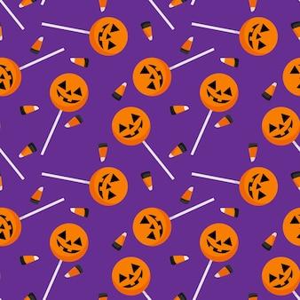 Halloween candy seamless pattern.