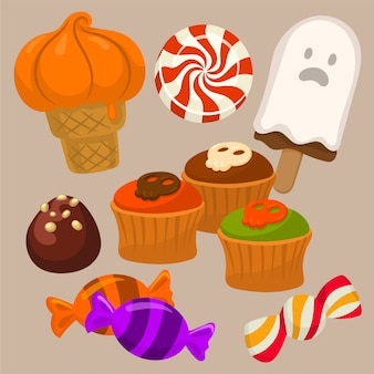 Halloween candy and treats