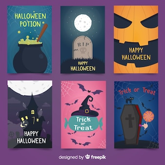 Halloween card collectio