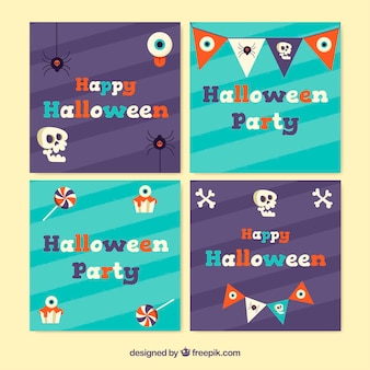 Halloween card pack with decorative elements