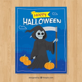 Halloween card with the death