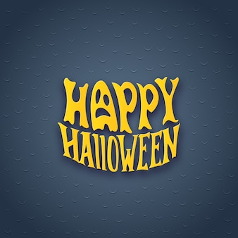 Halloween card with modern lettering style sign