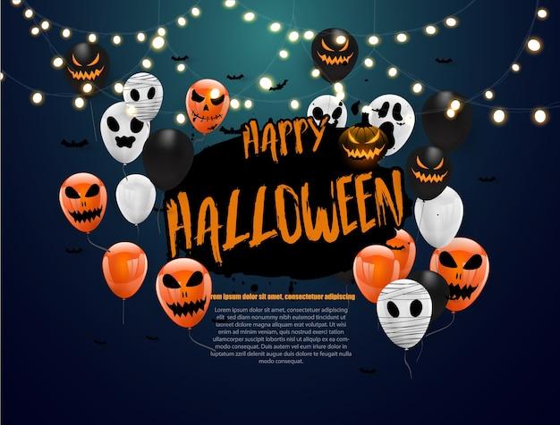 Halloween carnival background,