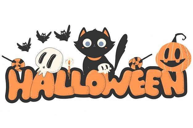 Halloween cartoon .