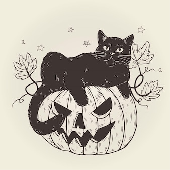 Halloween cat design
