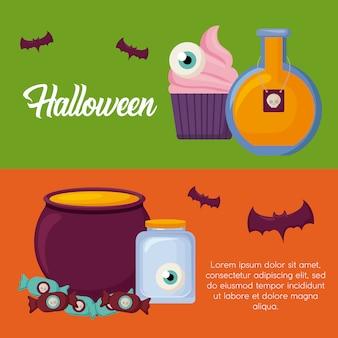 Halloween celebration banner