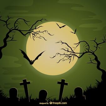 할로윈 묘지 배경