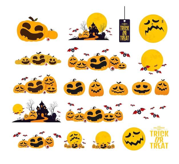 Дизайн персонажей хэллоуина. векторная иллюстрация