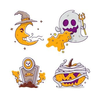 Иллюстрация персонажей хэллоуина