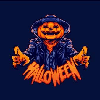 Halloween character jack o lantern