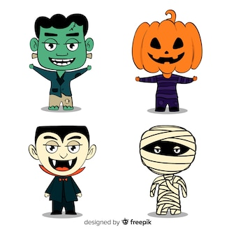 Halloween character sticker collection