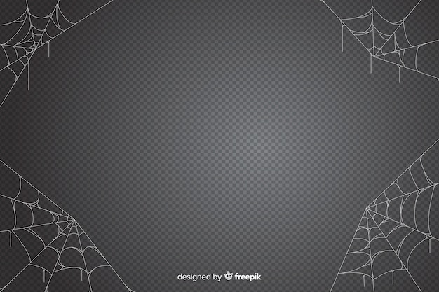 Halloween cobweb background in grey shades