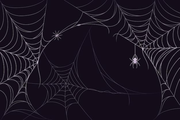ハロウィーンのクモの巣の背景テーマ