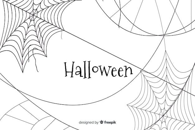 Halloween cobweb background