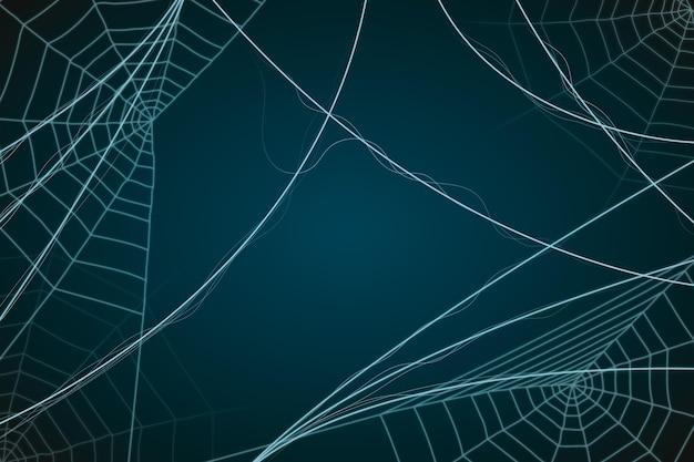 ハロウィーンの蜘蛛の巣の背景