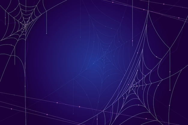 Halloween cobweb blue background