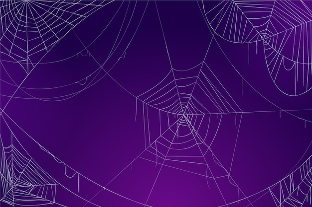 Halloween cobweb wallpaper concept