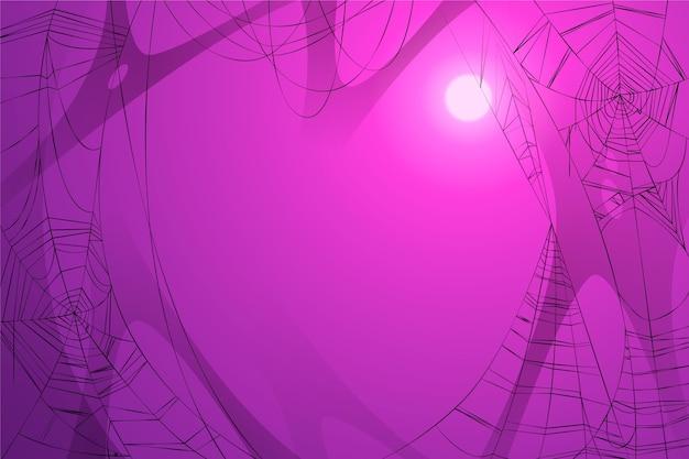 ハロウィーンのクモの巣の壁紙のテーマ