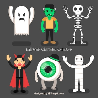Halloween collection of angry characters