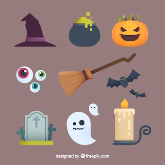 Halloween collection with classic elements