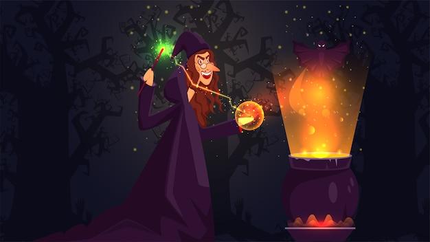 Иллюстрация концепции хэллоуина