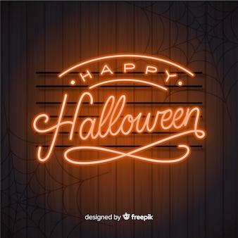 Halloween concept with lettering background