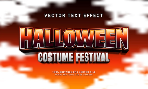 Halloween costume festival editable text style effect with halloween event theme