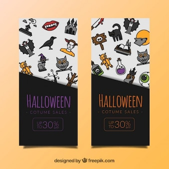 Halloween costume sale banner