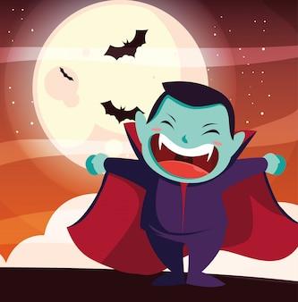 Halloween costumed child