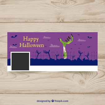 Halloween cover with zombie hand