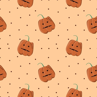 Halloween creepy cat seamless pattern